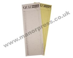 QUIZ ANSWER SHEETS - STANDARD - 1 PACK